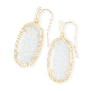 New Kendra Scott Dani Gold White Kyocera Opal